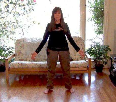 Siska Tovey demonstrating the New Equations Spiritual Postures