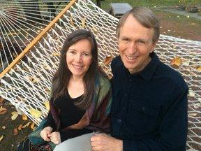 Siska Tovey and Alan Sheets cofounders New Equations photo in hammock