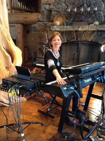 Siv Roland at keyboards New Equations at Mt. Shasta