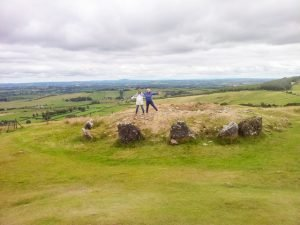Two women standing on a hill in Ireland