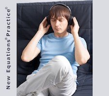 A man listening to music through headphones