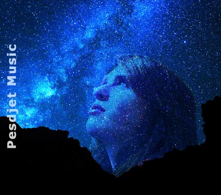A girl in the stars looking up
