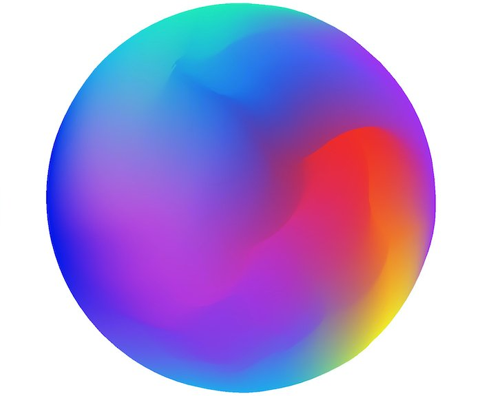 Set of colorful gradient balls. Universal backgrounds for  design of brands, interfaces, phone savers.