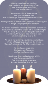 A Poem about 3 Candles