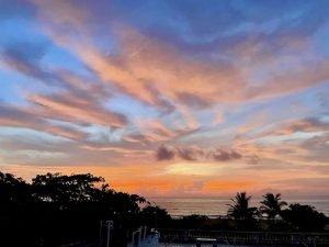 An orange and blue sunset